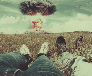 explosion and boy image