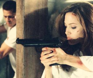 Angelina Jolie, brad pitt, and movie image