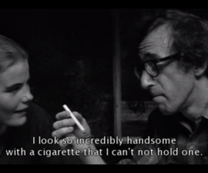 cigarette, movie, and woody allen image