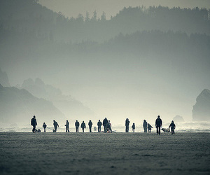 landscape, people, and mountains image