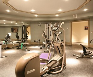 gym, house, and luxury image