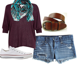 belt, blouse, and brown image