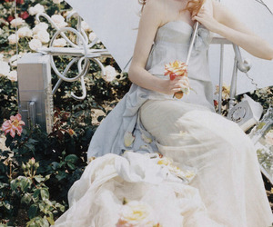 dress, Lily Cole, and photography image