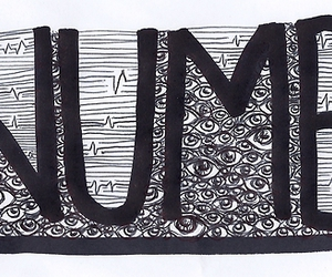 NUMB, text, and art image