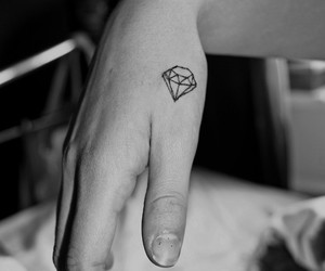 black and white, diamond, and cute image