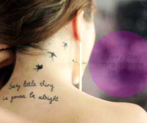 birds, neck, and tattoo image