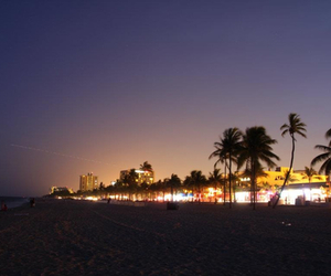 beach, beautiful, and city image