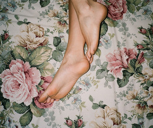 bed, flowers, and hotel image