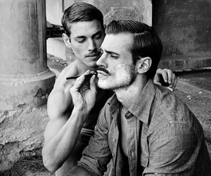 gay, men, and beard image