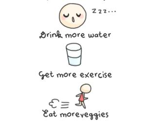 sleep, healthy, and water image