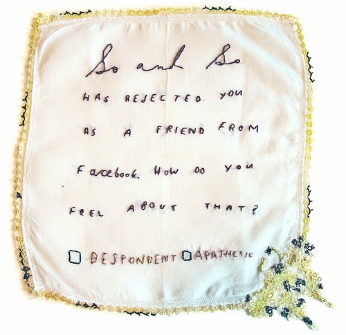 embroidery, facebook, and hankie image