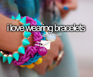 love, girl, and bracelets image