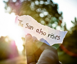 sun, text, and quote image