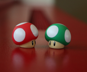 mario, mushroom, and red image