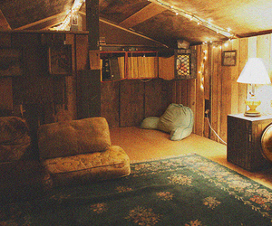 room, light, and vintage image