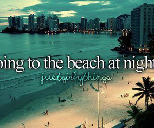 beach, night, and summer image