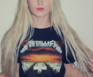 girl, metallica, and blonde image
