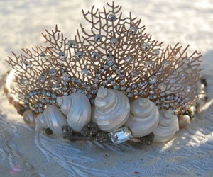 seashell and mermaid crown image
