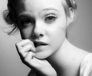 Elle Fanning, black and white, and model image