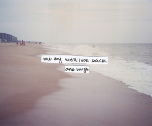text, quote, and beach image