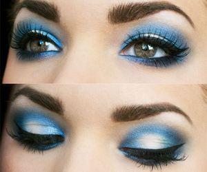makeup, make up, and blue image