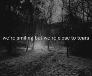 black and white, cry, and smiling image