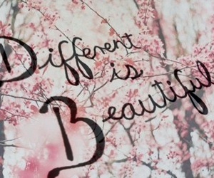 love, beautiful, and different image