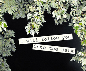 death cab for cutie, night, and i will follow you into the dark image