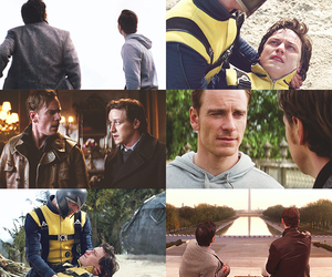 charles xavier, james mcavoy, and magneto image