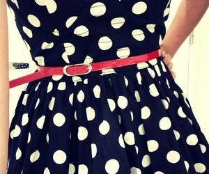 belt, polka dots, and blue image