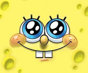 spongebob, smile, and yellow image