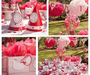 garden, hello kitty, and party image