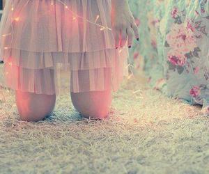 girl, light, and skirt image