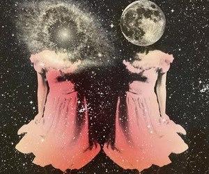 moon, stars, and galaxy image