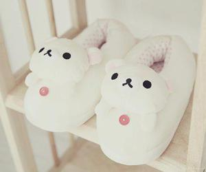 cute, kawaii, and slippers image