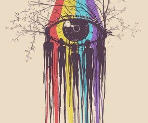 eye, art, and tree image