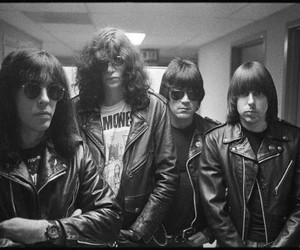 ramones and black and white image