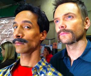 community, joel mchale, and moustache image