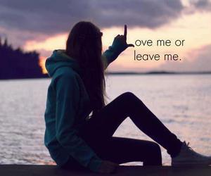love, leave, and quote image