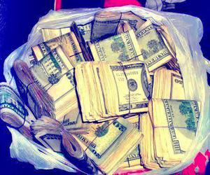money, swag, and dollar image