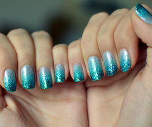 blue, hands, and ombre image