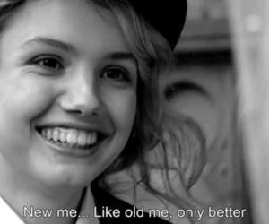 cassie, skins, and black and white image