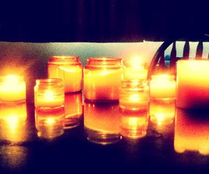 candles, fire, and romance image