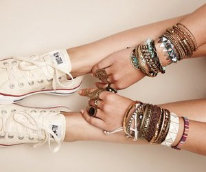 all star, converse, and necklaces image