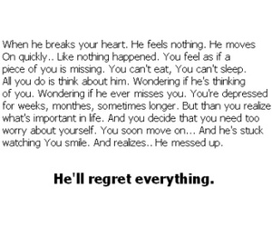love, regret, and heart image