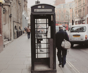 telephone, london, and vintage image