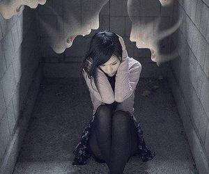alone, dark, and girl image