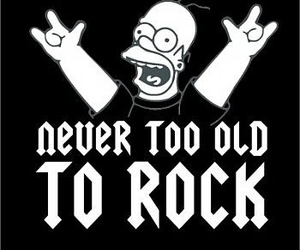 rock, simpsons, and homer image