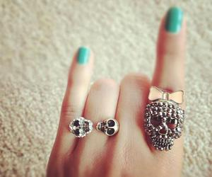 skull, nails, and rings image