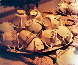 antique, delicate, and teacups image